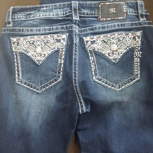 Miss me  Aztec  embroidery bling jeans as 32